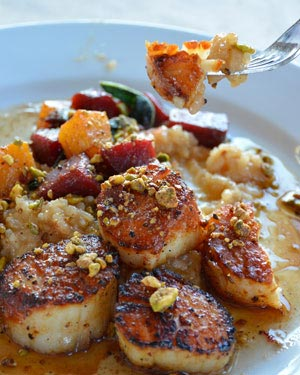 Winter Scallops at Cowfish - part of the winter Cowfish menu