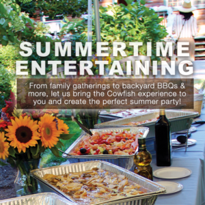 Summertime Entertaining at Cowfish. From family gatherings to backyard BBQs + more, let us bring the Cowfish experience to you and create the perfect summer party. Call us at 631.594.3868 to learn more.