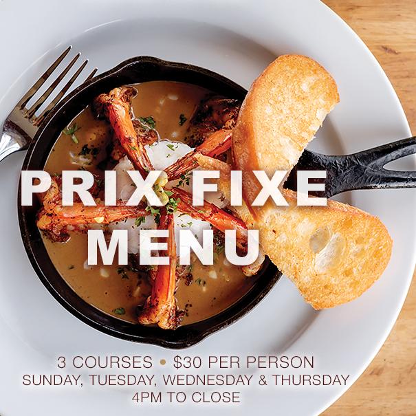 Prix Fixe Menu available at Cowfish all-winter-long