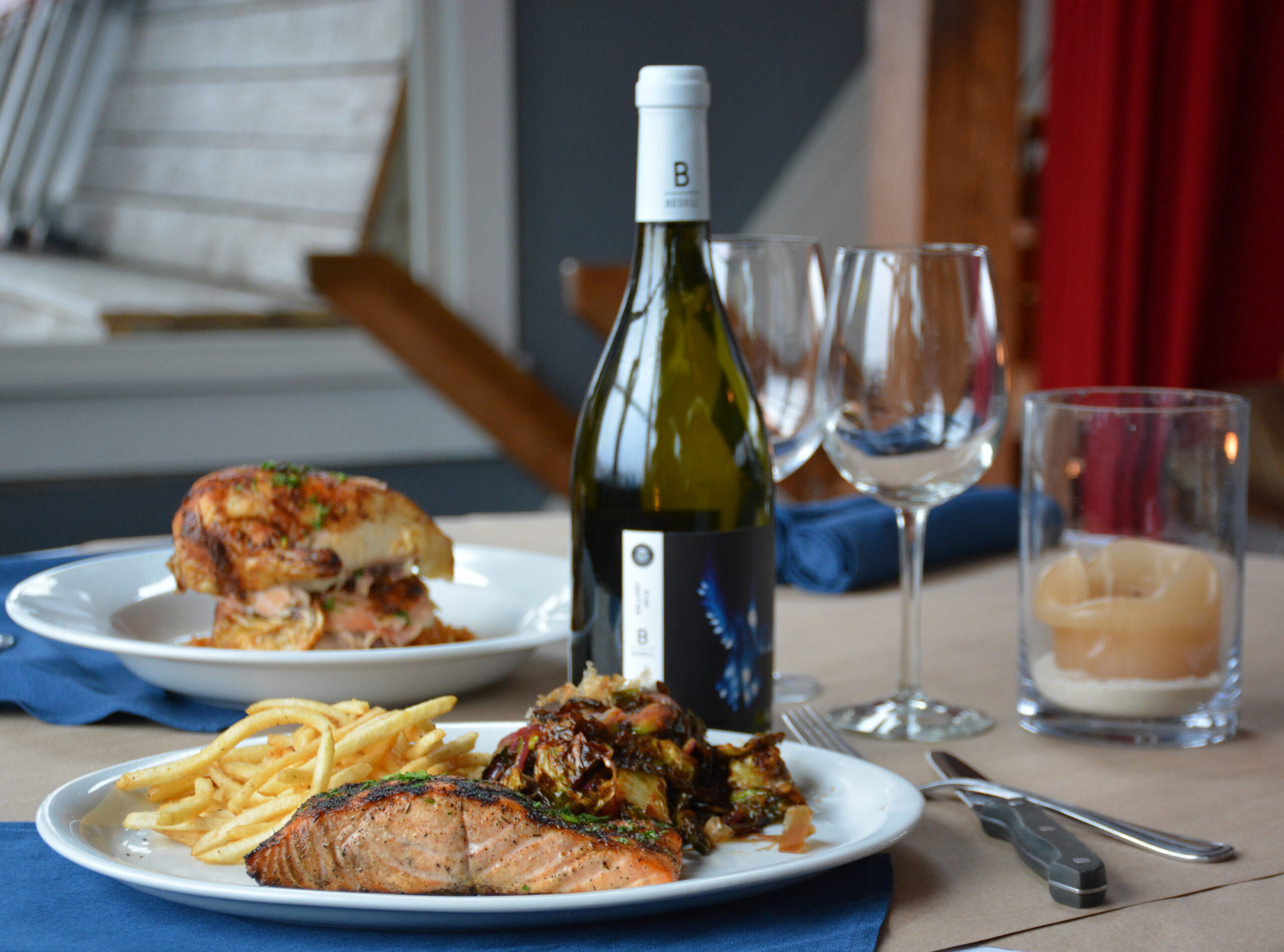 Wine Down Wednesday at Cowfish. One free bottle of wine with purchase of two entrees.