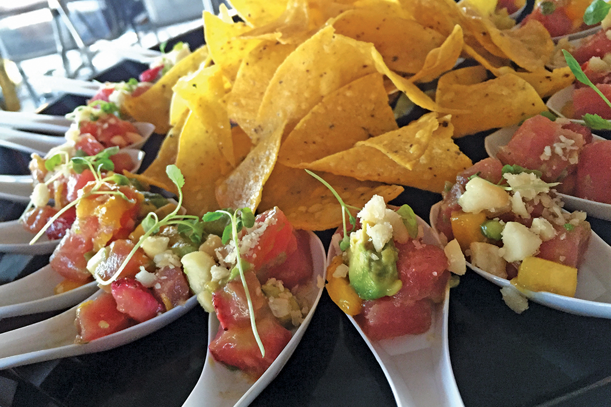 Enjoy Tuna Poke - part of our on- and offsite catering options. Call for details.