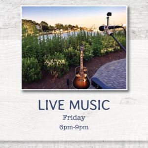 Live Music at Cowfish on Fridays from 6p-9pm, weather permitting. Call 631.594.3868 for full schedule or visit us on Facebook.